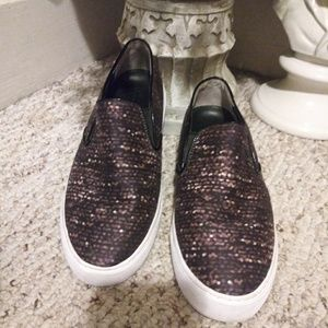 EUC Tory Burch Slip-On Fabric Sneaker